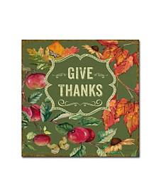 "Jean Plout 'Thanksgiving 7' Canvas Art - 18"" x 18"" x 2"""