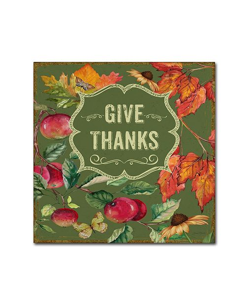 "Trademark Global Jean Plout 'Thanksgiving 7' Canvas Art - 18"" x 18"" x 2"""