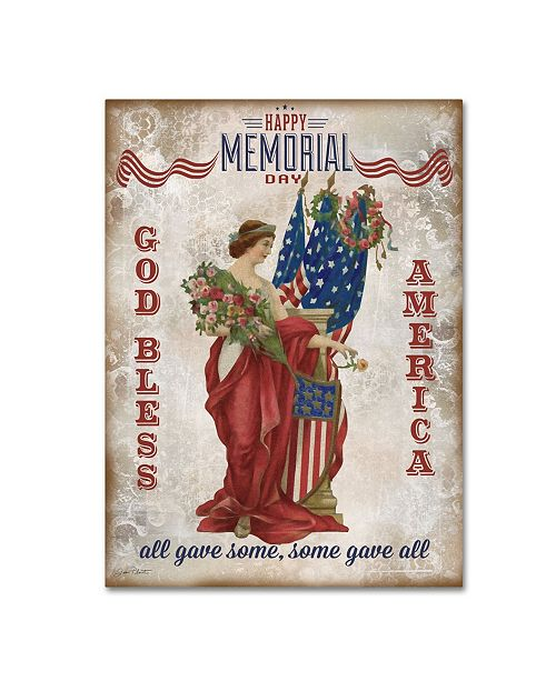 "Trademark Global Jean Plout 'Retro Patriotic 2' Canvas Art - 47"" x 35"" x 2"""