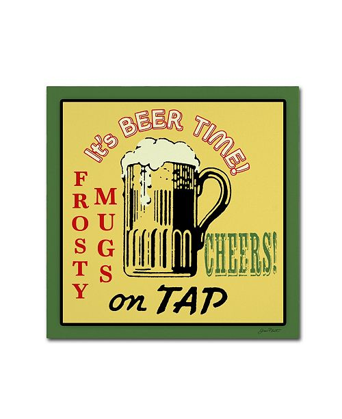 """Trademark Global Jean Plout 'Beer 9' Canvas Art - 35"""" x 35"""" x 2"""""""