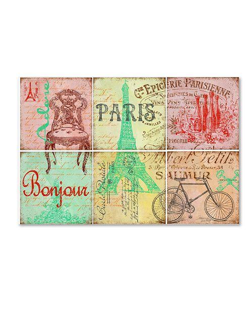 "Trademark Global Jean Plout 'Parisienne 2' Canvas Art - 47"" x 30"" x 2"""