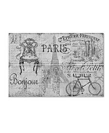"Jean Plout 'Parisienne 5' Canvas Art - 19"" x 12"" x 2"""