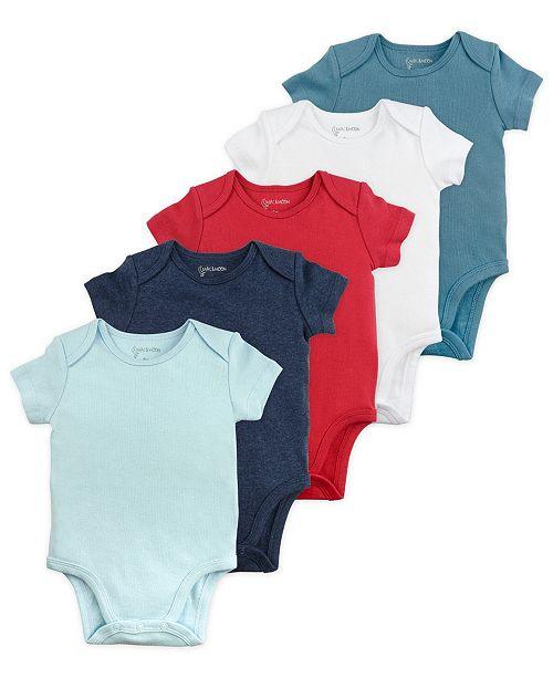 3c2f0e2a1 ... Mac & Moon Mac and Moon 5-Pack Short Sleeve Bodysuits in Blue Tones ...