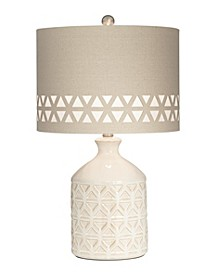 Ceramic Triangle Pattern Table Lamp