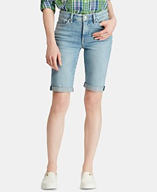 Lauren Ralph Lauren Petite Denim Twill Shorts