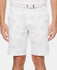 PGA TOUR Men's Printed Flat-Front Shorts