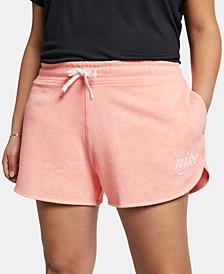 Plus Size Sportswear Cotton Shorts
