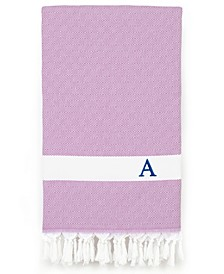 Personalized Diamond Pestemal Lilac Beach Towel