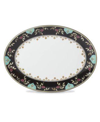 Global Tapesetry Garnet Oval Platter