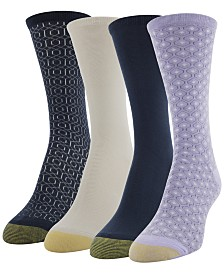 Gold Toe 4 Pack Geo Repeat Crew Socks