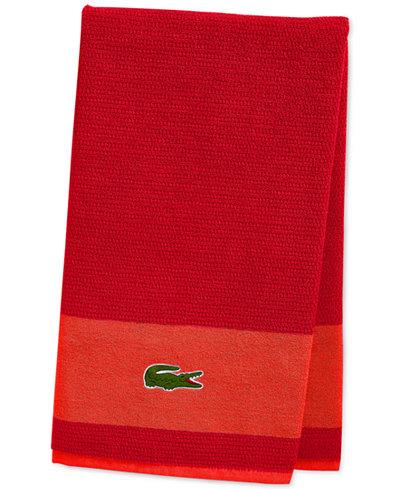 CLOSEOUT! Lacoste Match Cotton Colorblocked Bath Towel