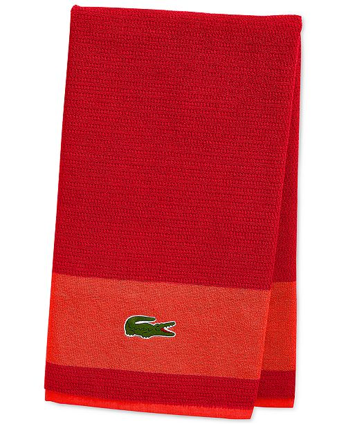 Lacoste CLOSEOUT! Match Cotton Colorblocked Bath Towel