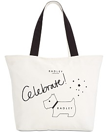 Radley London Celebrate Canvas Top Zip Tote