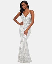 f0a58a9587 Betsy   Adam Embellished Illusion-Inset Gown
