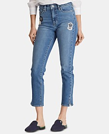 Lauren Ralph Lauren Petite Regal Straight Ankle Jeans