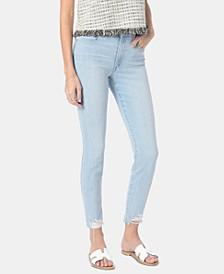 Judy Ripped-Hem Skinny Jeans