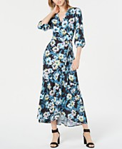489feca8 Bar III Floral-Print Wrap Maxi Dress, Created for Macy's