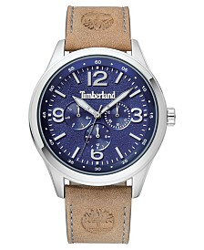 Timberland Men's Sandsfield Multifunction Tan/Silver/Blue Watch