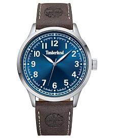 Timberland Men's Alford Dark Brown/Silver/Blue Watch