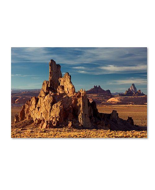 "Trademark Global Mike Jones Photo 'Agathia Peak Rock' Canvas Art - 32"" x 22"" x 2"""