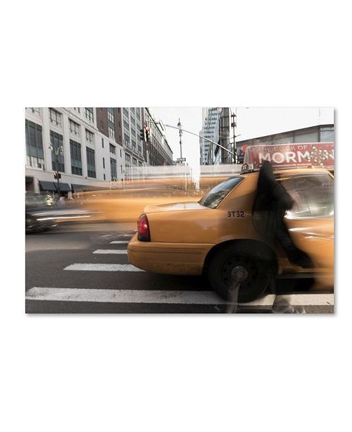 "Trademark Global Moises Levy 'Ghost in Cab' Canvas Art - 32"" x 22"" x 2"""