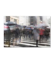 """Moises Levy 'Umbrellas 7' Canvas Art - 19"""" x 12"""" x 2"""""""