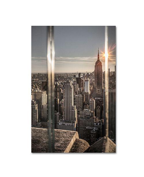 "Trademark Global Moises Levy 'New York Glass' Canvas Art - 19"" x 12"" x 2"""
