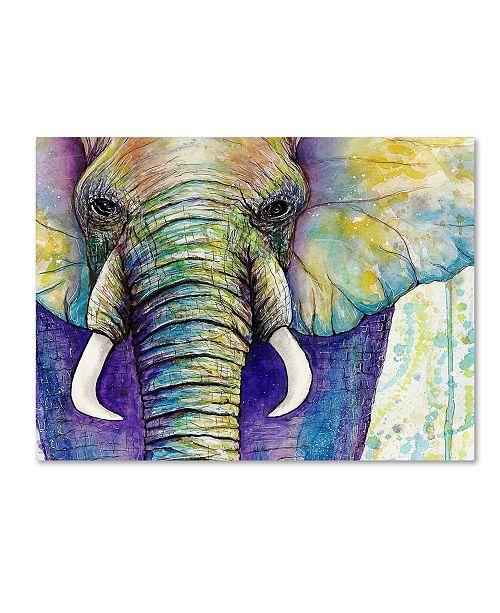 "Trademark Global Michelle Faber 'Elephant Face' Canvas Art - 47"" x 35"" x 2"""