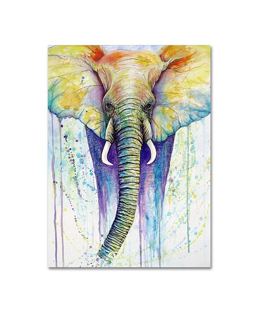 "Trademark Global Michelle Faber 'Elephant Colors' Canvas Art - 19"" x 14"" x 2"""
