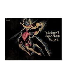 "Vintage Apple Collection 'German Entertainment Poster' Canvas Art - 47"" x 35"" x 2"""