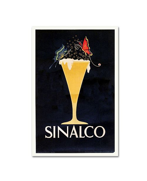 """Trademark Global Vintage Apple Collection 'Sinalco' Canvas Art - 47"""" x 30"""" x 2"""""""