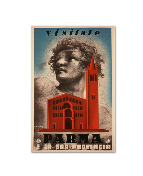"Trademark Global Vintage Apple Collection 'Visitate Parma' Canvas Art - 24"" x 16"" x 2"""