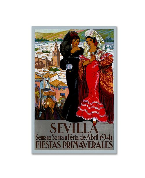 "Trademark Global Vintage Lavoie 'Travel 252' Canvas Art - 32"" x 22"" x 2"""