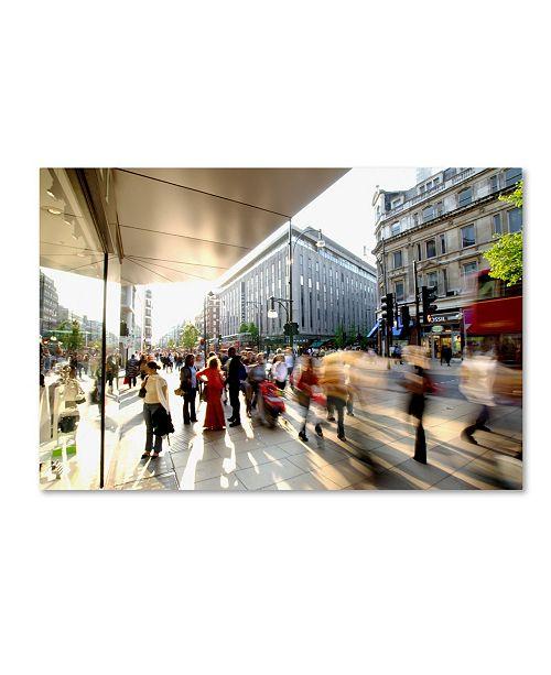 "Trademark Global Robert Harding Picture Library 'Sidewalk' Canvas Art - 19"" x 12"" x 2"""