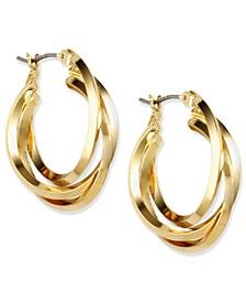 Three Ring Hoop Earrings