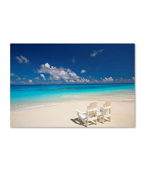 "Trademark Global Robert Harding Picture Library 'Beach Couple' Canvas Art - 19"" x 12"" x 2"""