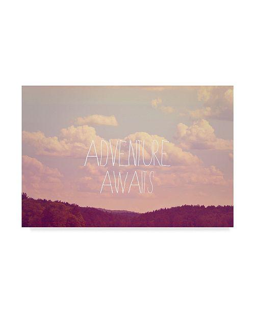 "Trademark Global Vintage Skies 'Adventure Awaits I' Canvas Art - 19"" x 12"" x 2"""