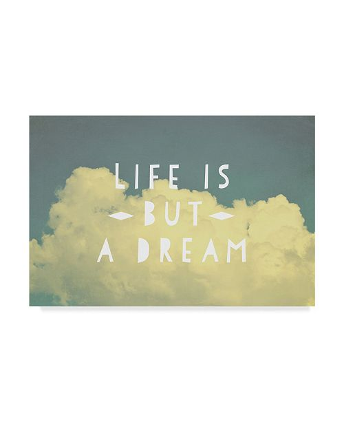 "Trademark Global Vintage Skies 'Life Is But A Dream' Canvas Art - 32"" x 22"" x 2"""