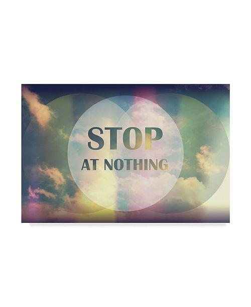 "Trademark Global Vintage Skies 'Stop At Nothing' Canvas Art - 19"" x 12"" x 2"""