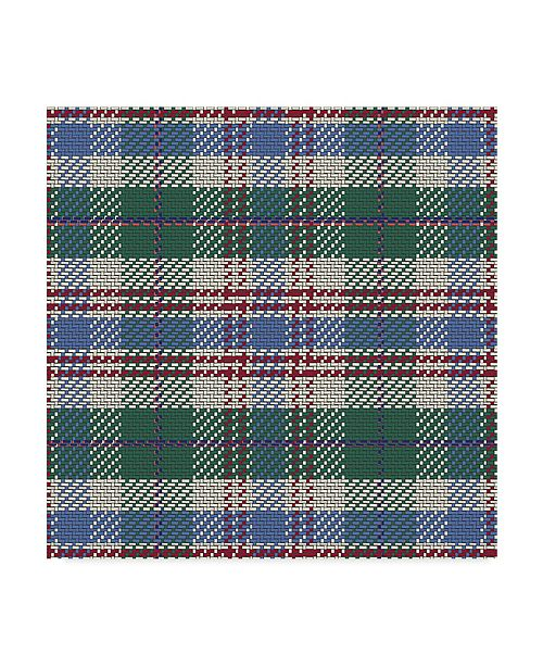 "Trademark Global Sher Sester 'Green Plaid Lodge Pattern' Canvas Art - 14"" x 14"" x 2"""