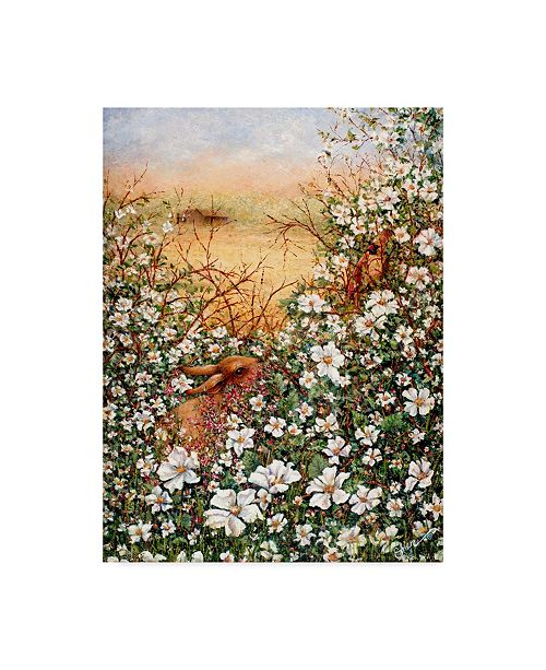 """Trademark Global Sher Sester 'Soon There'll Be Berries' Canvas Art - 32"""" x 24"""" x 2"""""""