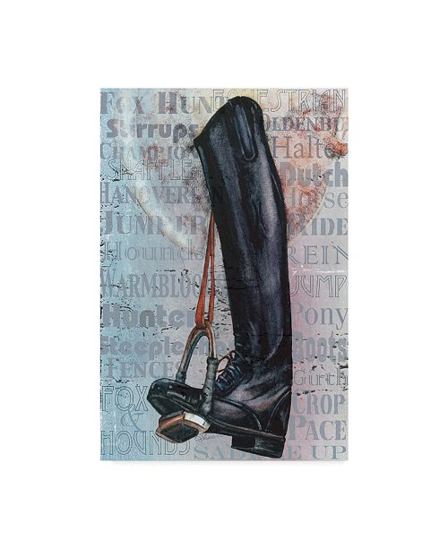 """Trademark Global Sher Sester 'Riding Boot Words' Canvas Art - 19"""" x 12"""" x 2"""""""