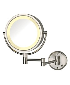 "The Jerdon HL75ND 8.5"" Wall Mount Lighted Makeup Mirror"
