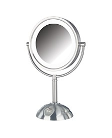 "The Jerdon HL8808NL 8.5"" Tabletop Two-Side Swivel LED Lighted Vanity Mirror"