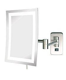 "The JRT710NLD 6.5"" x 9"" LED Lighted Wall Mount Rectangular Makeup Mirror"