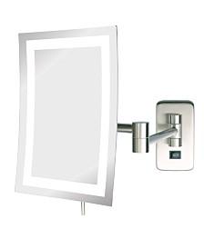 "The Jerdon JRT710NLD 6.5"" x 9"" LED Lighted Wall Mount Rectangular Makeup Mirror"