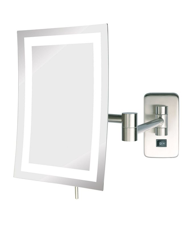 "Jerdon The JRT710NLD 6.5"" x 9"" LED Lighted Wall Mount Rectangular Makeup Mirror"