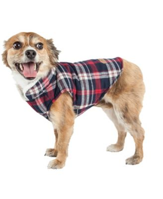 Pet Life 'Puddler' Classical Plaided Insulated Dog Coat Jacket