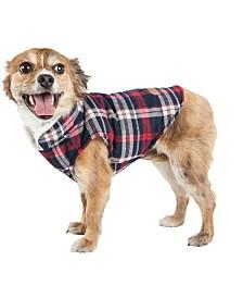 Pet Life 'Puddler' Classical Plaided Insulated Dog Coat Jacket