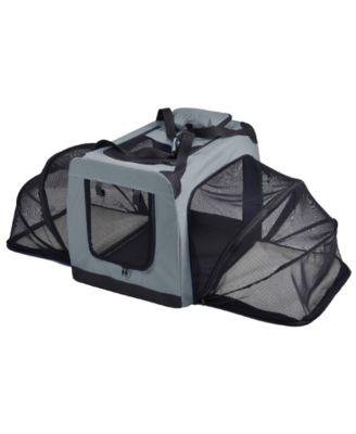 Pet Life 'Hounda Accordion' Metal Framed Collapsible Expandable Pet Dog Crate